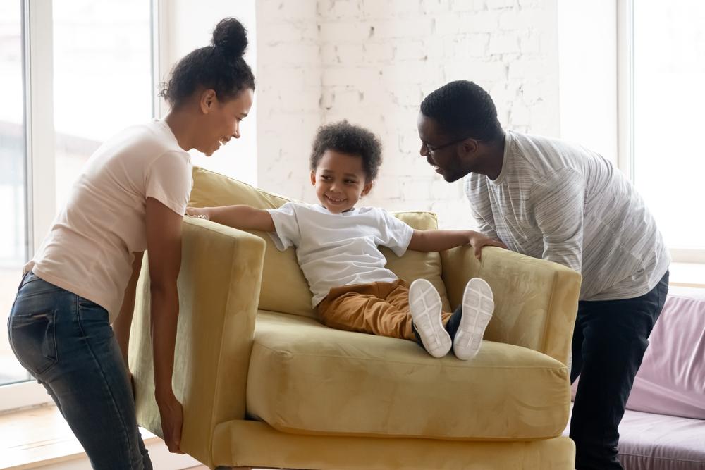 meubel gezin in woning